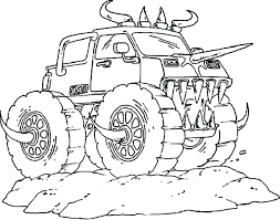 Printable Monster Truck Free Coloring Pages Of Monster Trucks