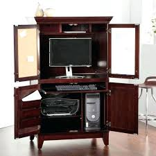 armoires wood computer armoire solid oak computer pertaining to solid wood computer hutch desk storage