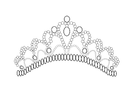Small Picture Crown Coloring Page 3205