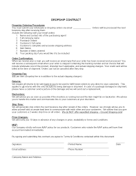 Drop Shipping Contract Template Freewordtemplates Net