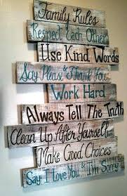 diy wood signs family rules pallet sign diy wood signs with vinyl