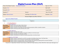 Lesson Plan Objectives. How To Draw Up A Lesson Plan \u2013 ...