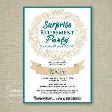 celebration invite surprise retirement invitation teal and beige farewell celebration invite womans elegant party printable invite 5x7 digital jpg file 11