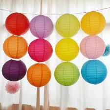 Decoratieve Ronde Rijstpapier Lantaarn Lamp Opknoping Baby Douche