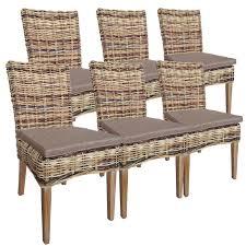 Rattanstuhl Esszimmer Stuhl Set 6 Stück Esszimmer Stühle Tiger Aus Naturrattan