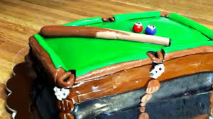 my pool table cake