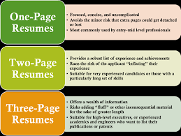 Gallery Of 1 Page Resume Examples