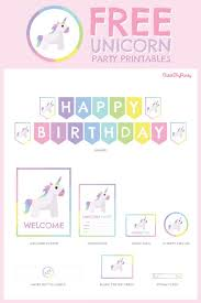 Blank Birthday Banner The Most Beautiful Free Unicorn Birthday Party Printables