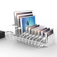 Make Charging Station Amazoncom Powerport 96w 24a Max Unitek 10 Port Usb Charger