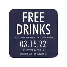 Save The Date Images Free Free Drinks Save The Date Coasters