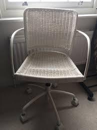white wicker desk chair ikea wheeled