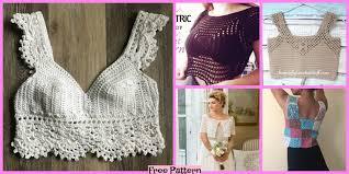 Crop Top Design Pattern 10 Crochet Lace Crop Top Free Patterns Diy 4 Ever