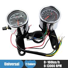 online buy whole yamaha speedometer from yamaha chrome motorcycle speedometer tachometer set 0~160km h odometer tacho gauge 0 13000