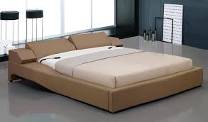 Overnice Leather Elite Platform Bed with Electric Headboard Long