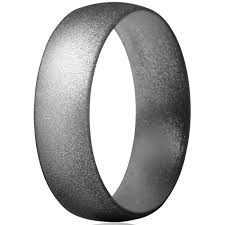 Thunderfit Silicone Wedding Ring For Men Women 4 Rings 1 Ring Rubber Engagement Bands 6mm Wide 1 5mm Thick