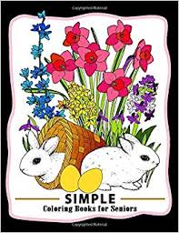 Amazoncom Simple Coloring Books For Seniors Easy Coloring Pages