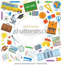 Back To School Invitation Template Back School Congratulations Card Invitation Template Stock Vector