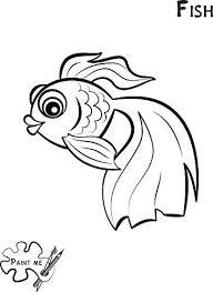 Libro Da Colorare Per Bambini Che Dice Mi Pesce Premium Clipart