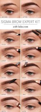 elf eyebrow kit tutorial. how to fill in your eyebrows and make them look thicker   eyebrow, makeup brows elf eyebrow kit tutorial