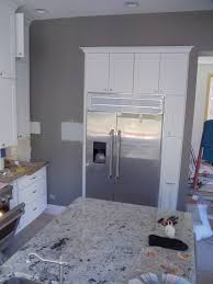 White And Gray Kitchen Kitchen Gray Walls White Cabinetsi Love The Way These Cabinets
