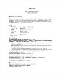 Sample Marketing Consultant Resume Executive Management Consultant ...