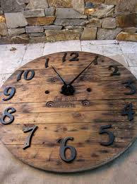 recycled wood wall clock french barn look large 41 diameter big unique diy wall clocks