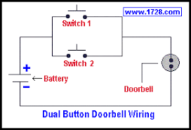 basic electricity tutorial switches the above diagram shows an interesting variation of doorbell wiring the 2 doorbell buttons do not have to be right next to each other