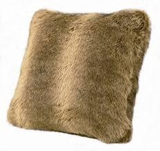 hiend accents faux wolf fur pillow