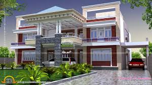 absolutely design 3 floor plan and exterior house india kerala