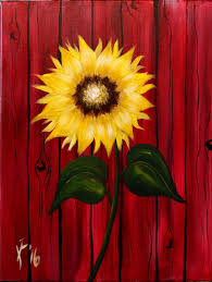 Painting Canvas Autum Sunflower Step By Step Acrylic Painting On Canvas For