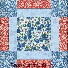 1395 best Quilt Blocks images on Pinterest | Crafts, Embroidery ... & Turquoise Blue Red Flowers Floral Fabric Easy Beginner Pre-Cut Quilt Blocks  Kit Adamdwight.com