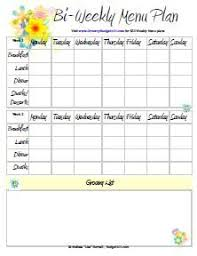 monthly meal planner template four weeks are decorated in different colors in this monthly menu