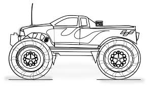 Small Picture Coloring Pages Free Printable Monster Truck Coloring Pages For