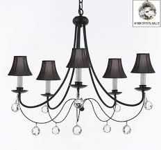 empress crystal wrought iron chandelier lighting with black
