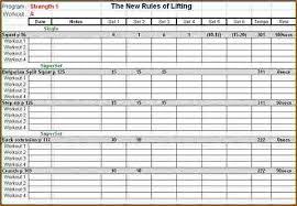 Workout Tracking Sheet