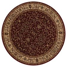 concord global trading persian classics kashan red 8 ft round area rug 20209 the home depot