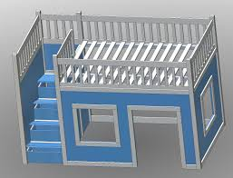 Diy Toddler Loft Bed Ana White Build A Full Size Playhouse Loft Bed With Storage