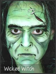 wicked witch face painting by mimicks