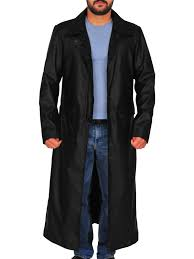 dapper leather trench coat cool black leather trench coat