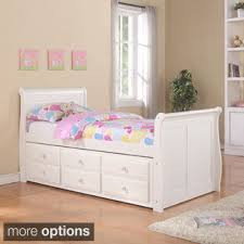 Donco Kids White Sleigh Bed with Trundle Free Shipping Today
