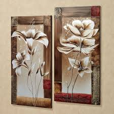 nobby design ideas canvas wall art sets with petals of spring fl set awesome wall decoration sets