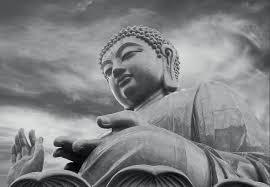 Buddha Black And White Fotobehang Behang Bestel Nu Op