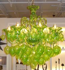 lime green chandelier