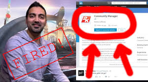 ronniek is getting fired k is looking for a new community ronnie2k is getting fired 2k is looking for a new community manager