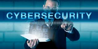 chief security officer chief information security officer touching cybersecurity on a visual screen business network security officer