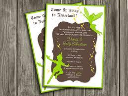 Tinkerbell Invitations Printable Peter Pan Baby Shower Invitations Peter Pan Ba Shower