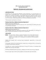Sample Resume Medical Technologist Medical Technologist Resume