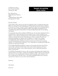 Best Ideas Of Accounting Cover Letter Template Thelongwayupinfo