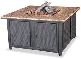 uniflame fire pit. Blue Rhino Uniflame LP Propane Gas Fire Pit Table With Granite Mantel W