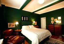 decoration bedroom with dark green walls bedding for lime